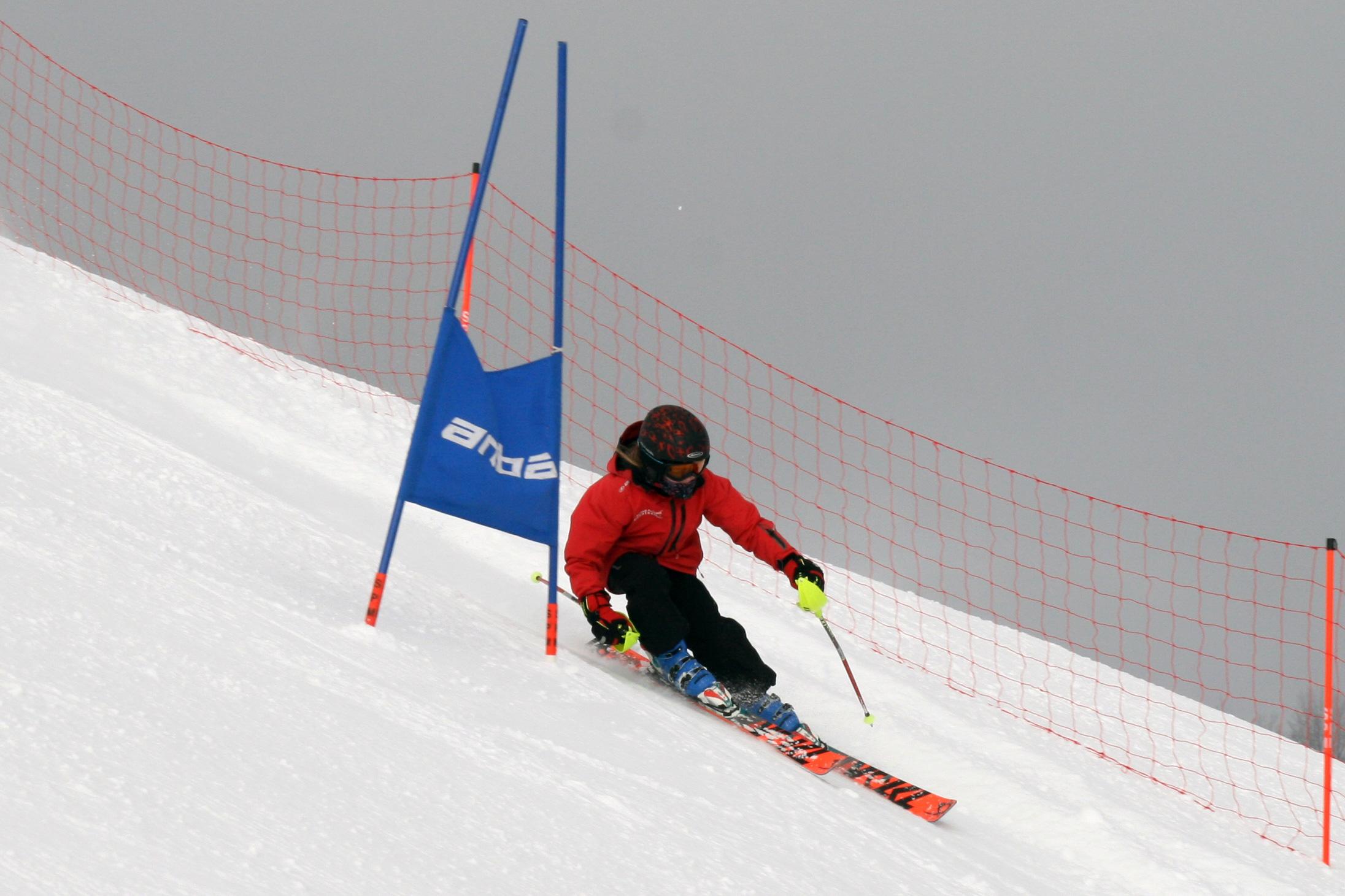Rennläuferin beim Training